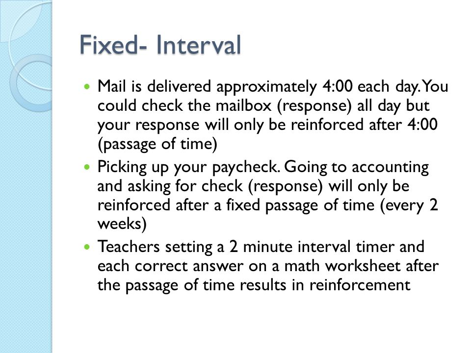 Fixed- Interval