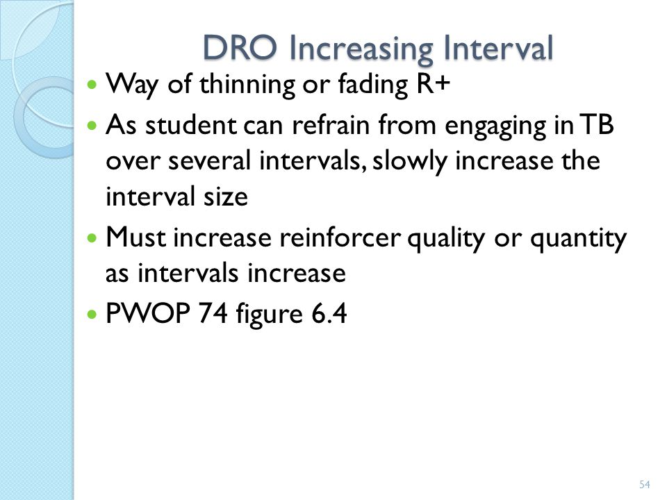 DRO Increasing Interval