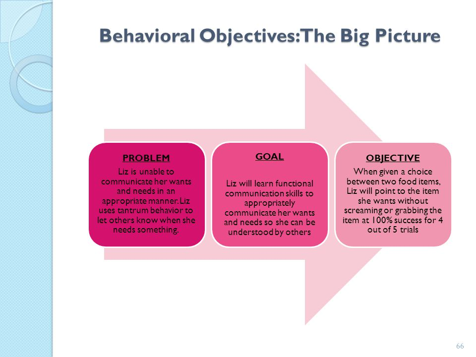 Behavioral Objectives: The Big Picture