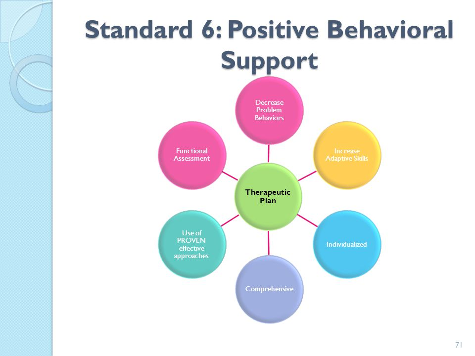 Standard 6: Positive Behavioral Support