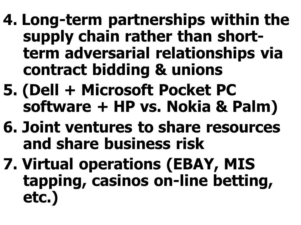 5. (Dell + Microsoft Pocket PC software + HP vs. Nokia & Palm)