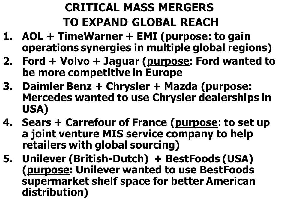 CRITICAL MASS MERGERS TO EXPAND GLOBAL REACH