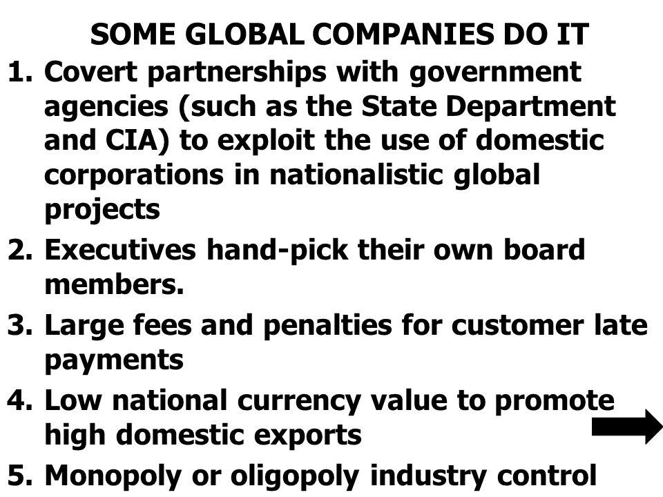 SOME GLOBAL COMPANIES DO IT