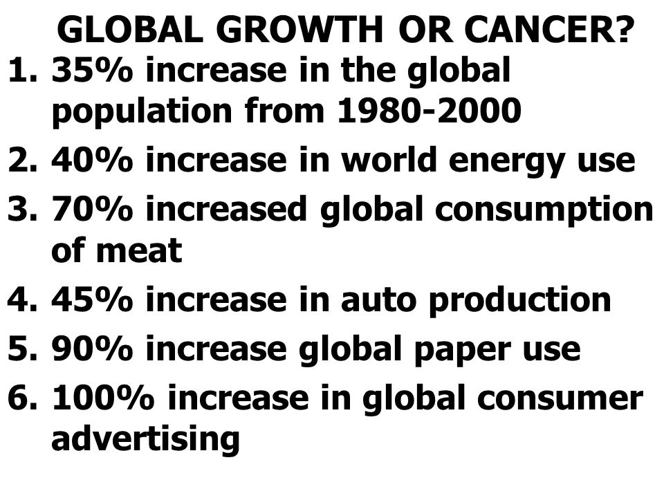 GLOBAL GROWTH OR CANCER