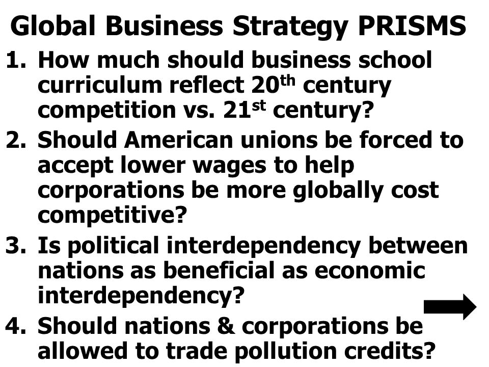 Global Business Strategy PRISMS