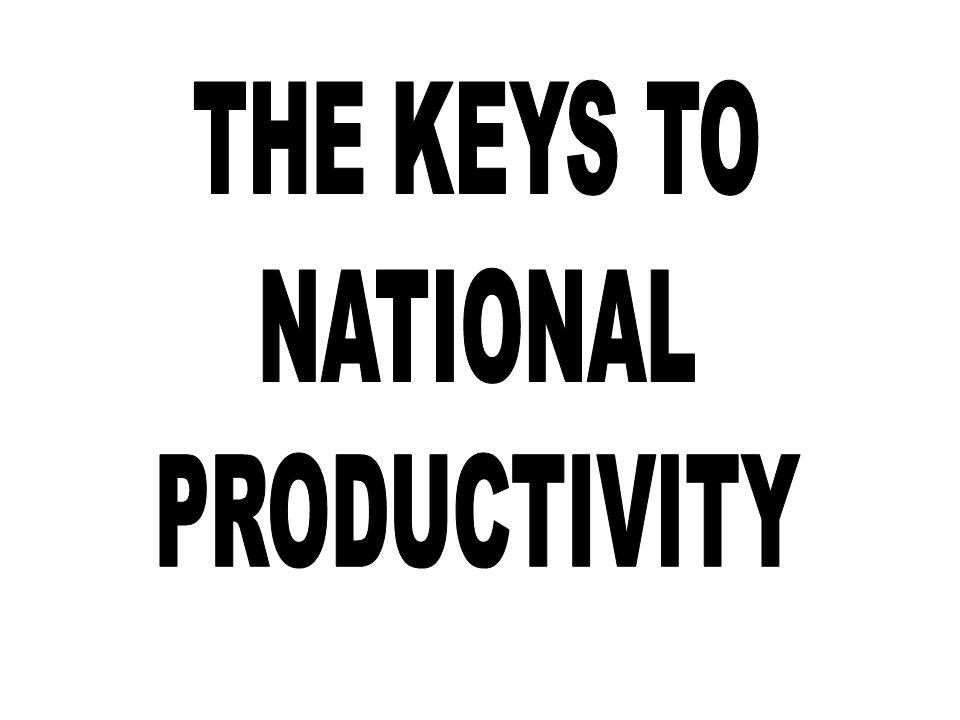 THE KEYS TO NATIONAL PRODUCTIVITY