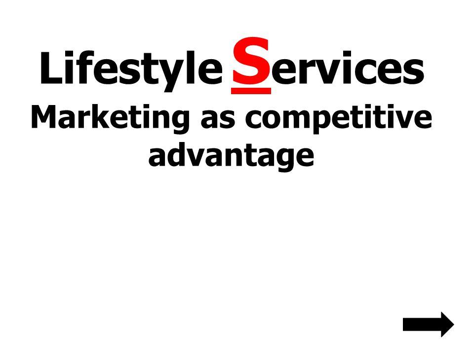 Lifestyle Services Marketing as competitive advantage