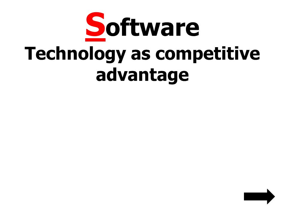 Software Technology as competitive advantage