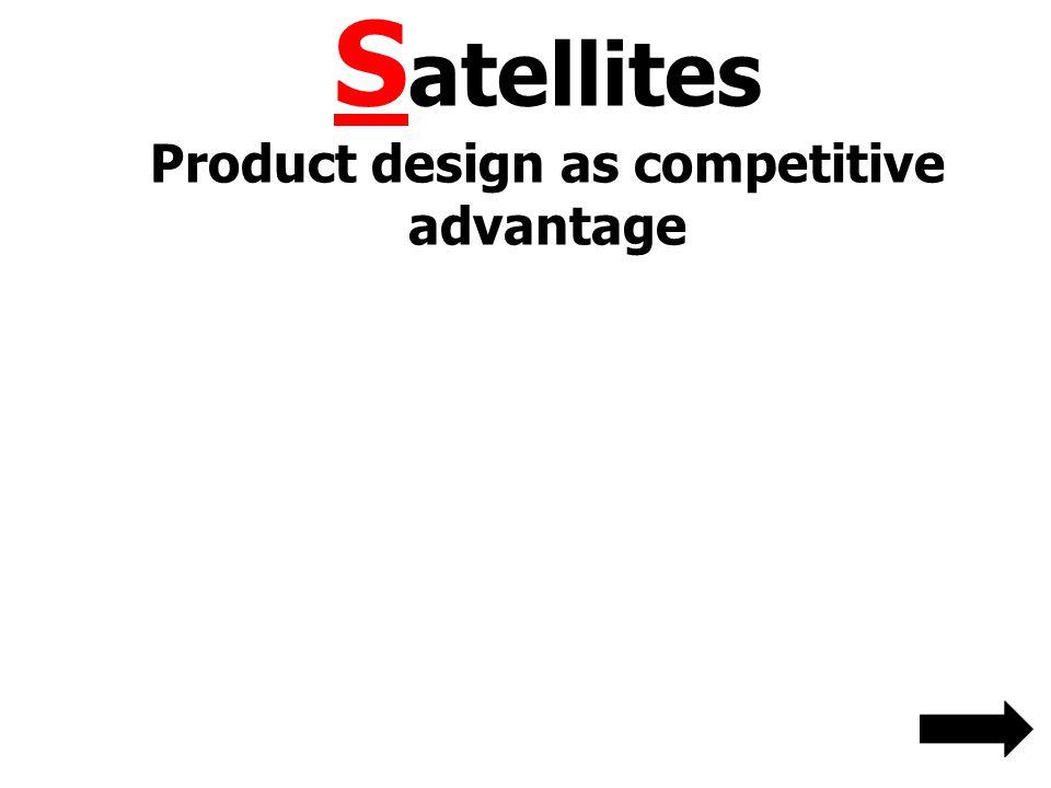 Satellites Product design as competitive advantage