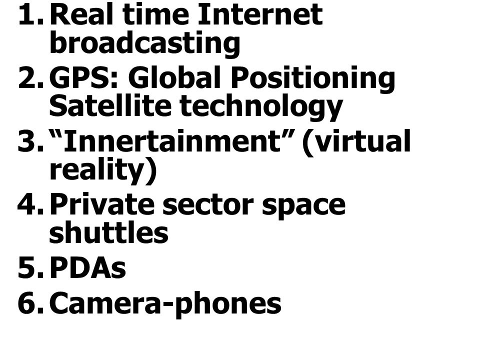 Real time Internet broadcasting