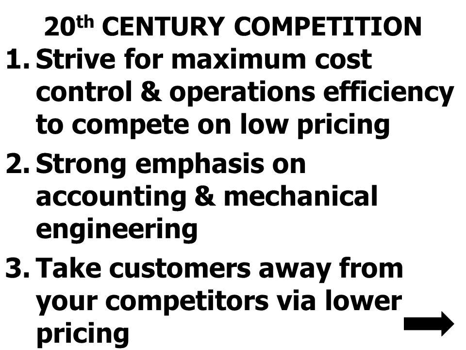 20th CENTURY COMPETITION