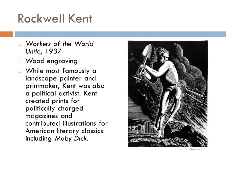 Rockwell Kent Workers of the World Unite, 1937 Wood engraving
