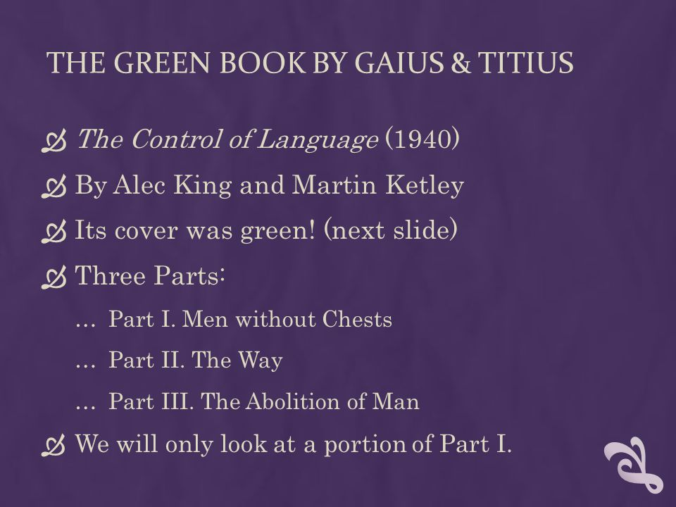 The Green Book by Gaius & titius