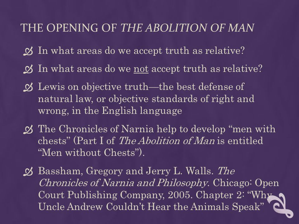 The opening of The Abolition of Man