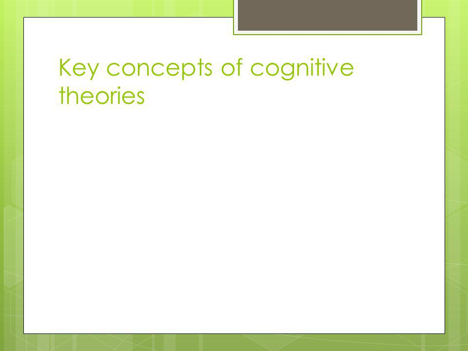 Key concepts of cognitive theories