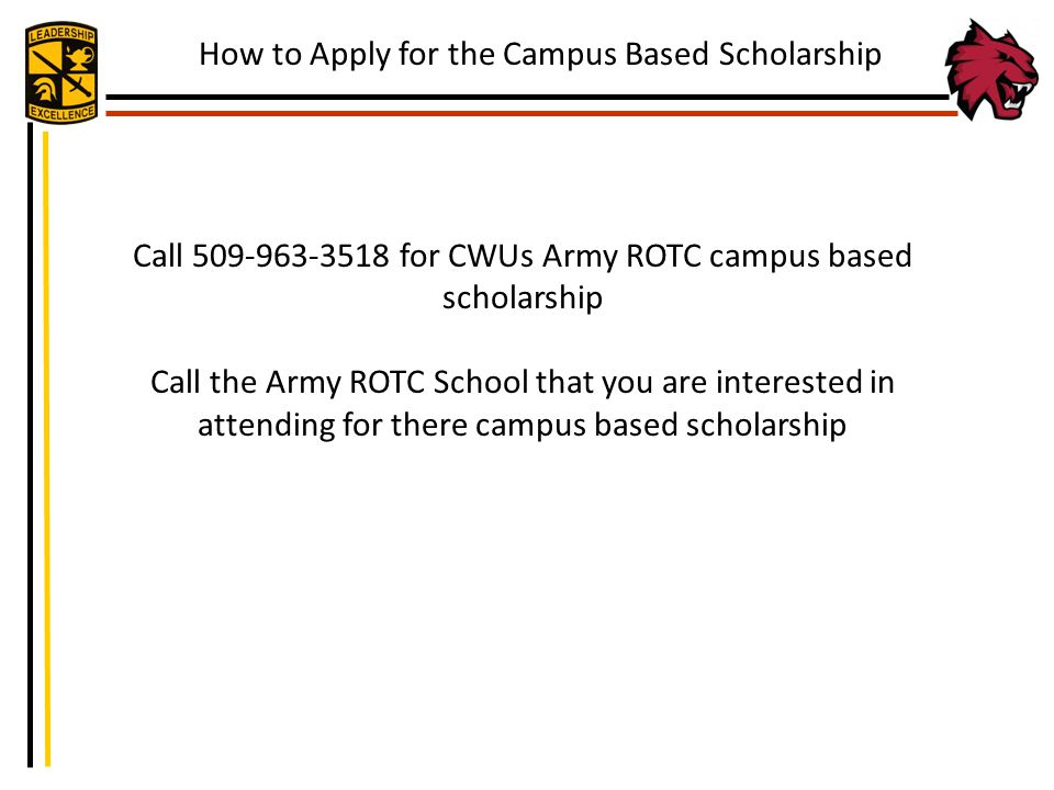 How to Apply for the Campus Based Scholarship