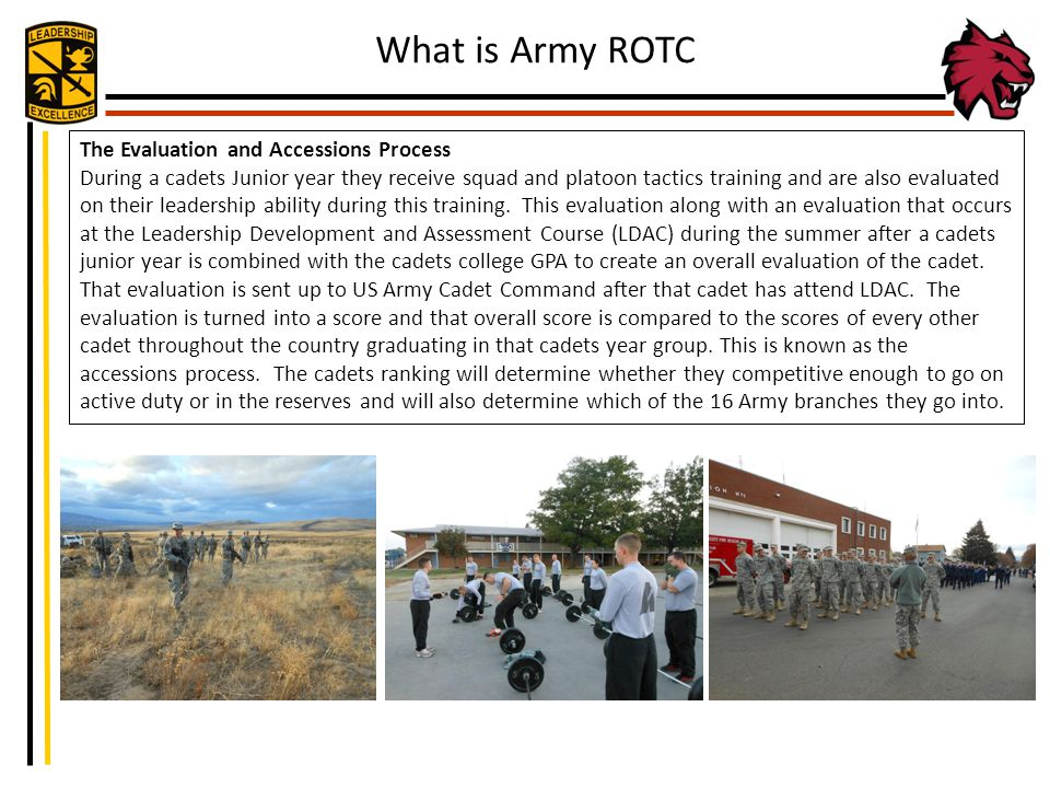 What is Army ROTC The Evaluation and Accessions Process