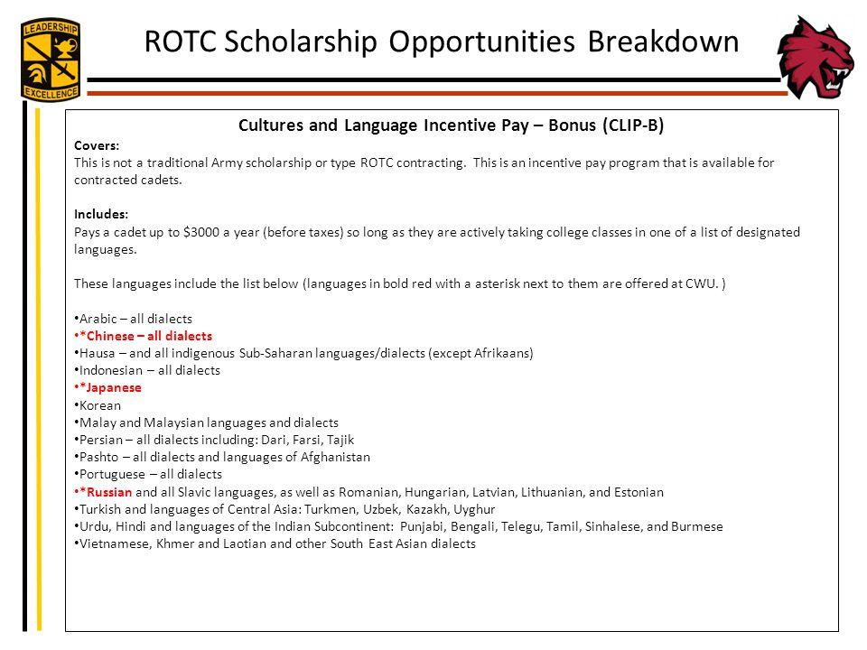 Cultures and Language Incentive Pay – Bonus (CLIP-B)