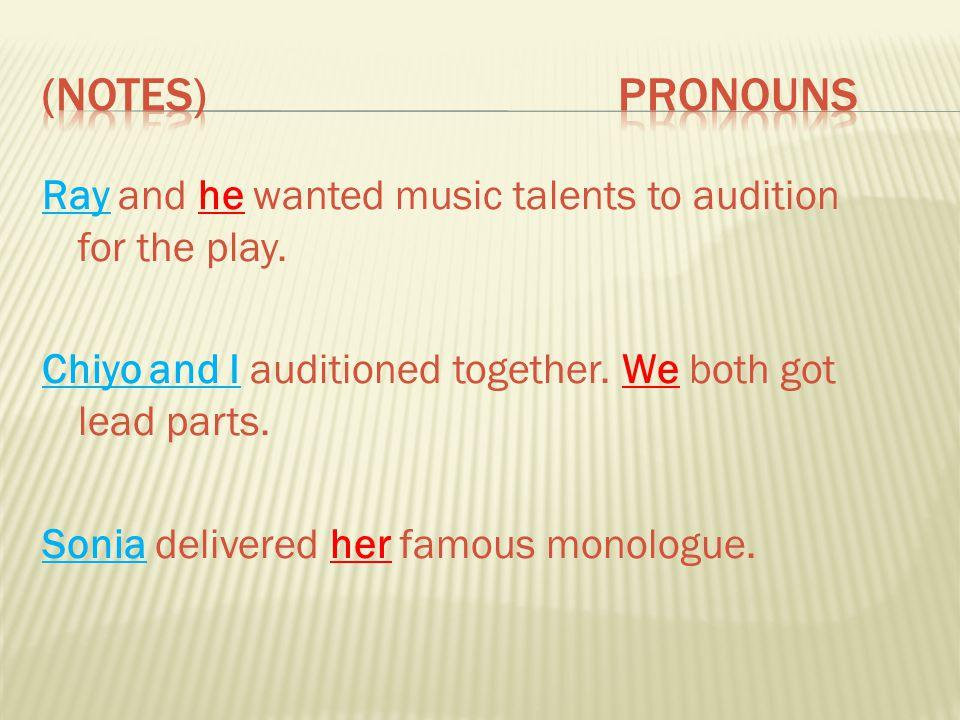 (Notes) ProNouns