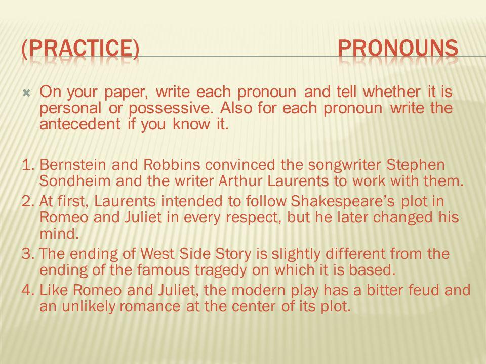 (Practice) pronouns