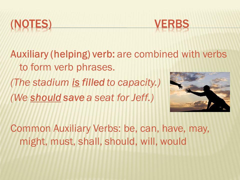 (Notes) Verbs