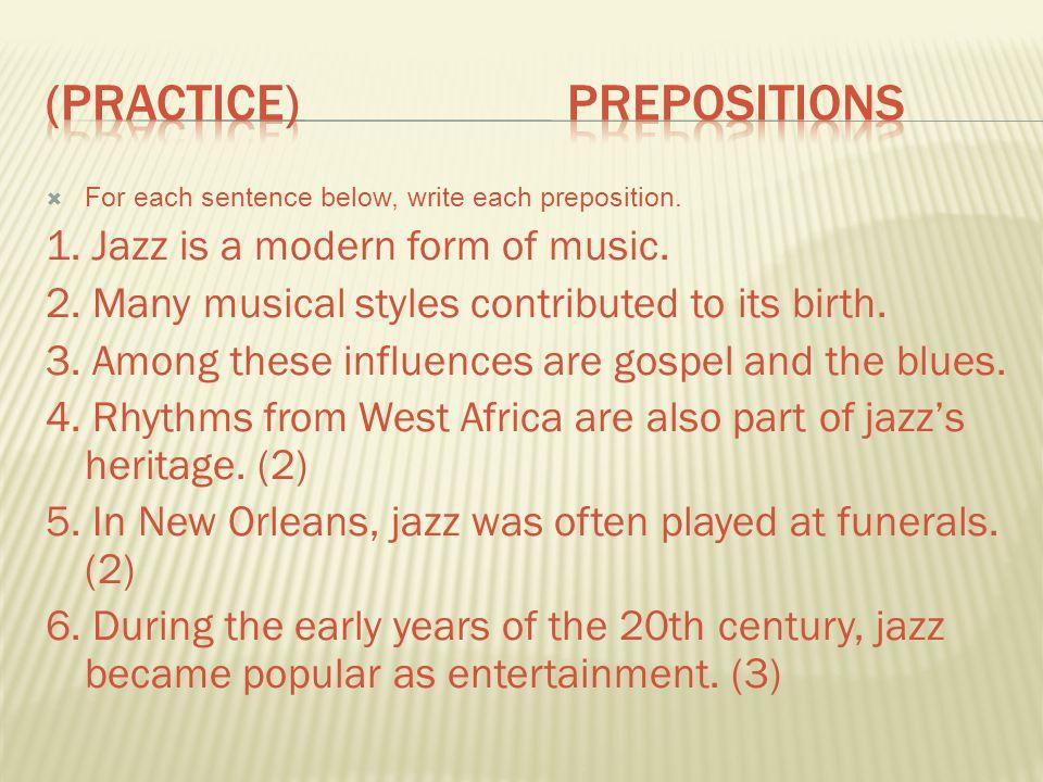 (practice) Prepositions