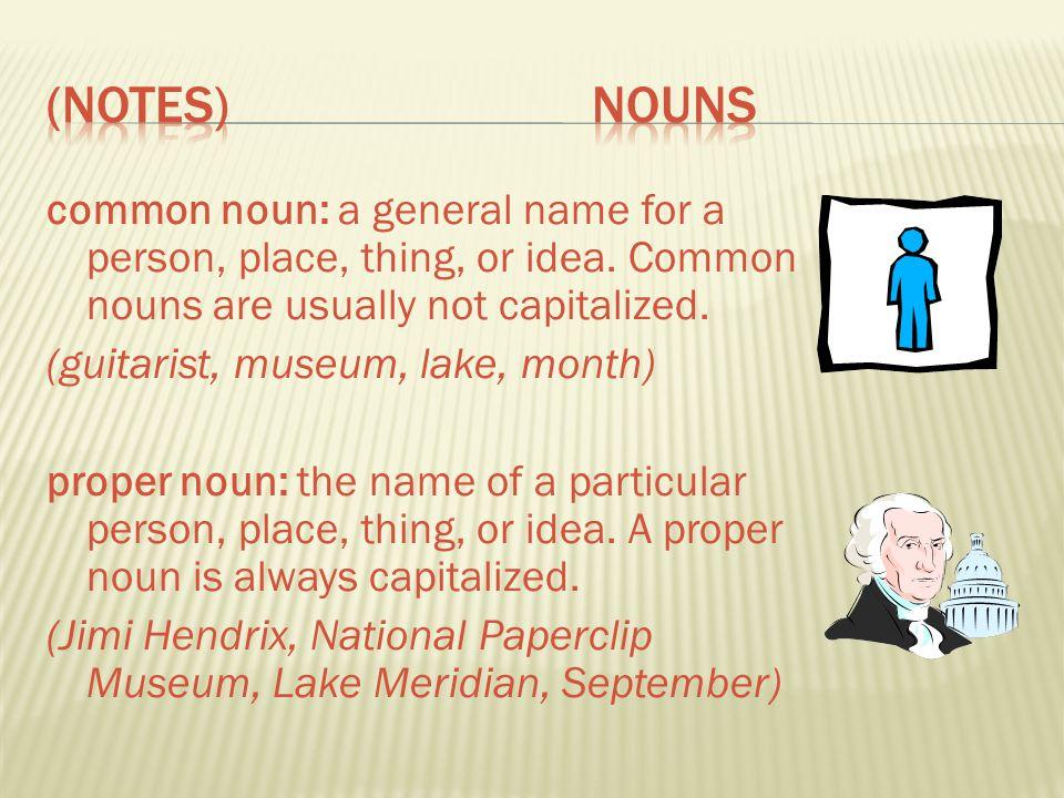 (Notes) Nouns