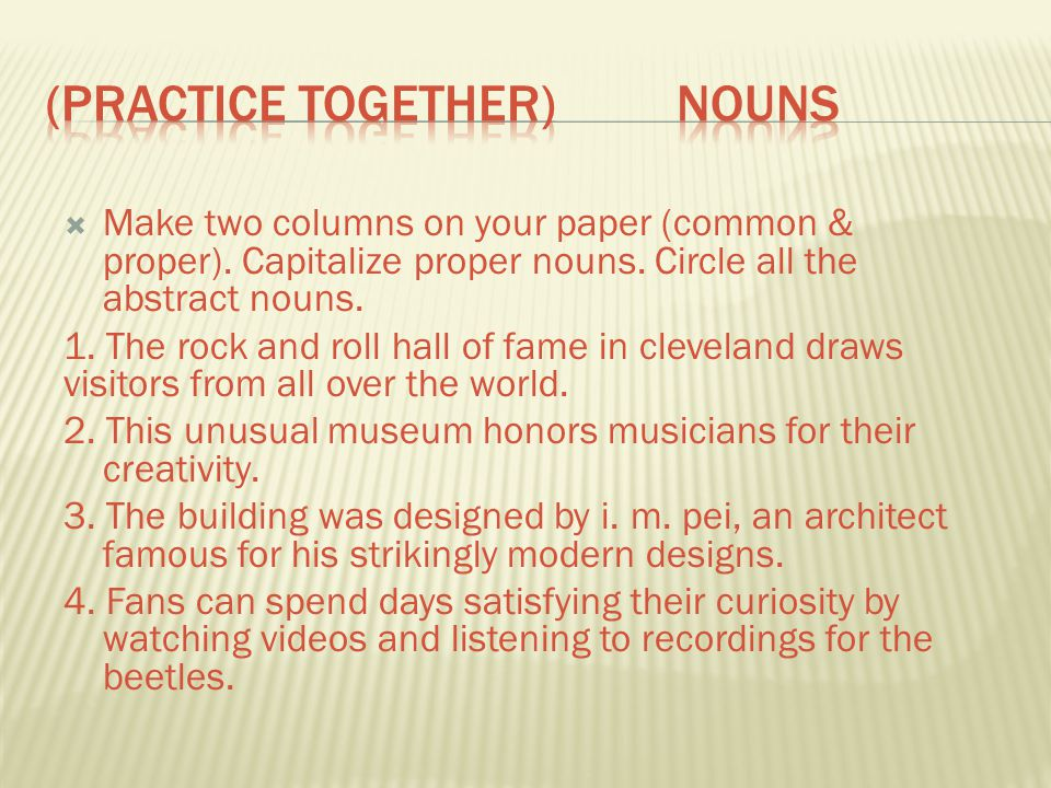 (Practice Together) Nouns