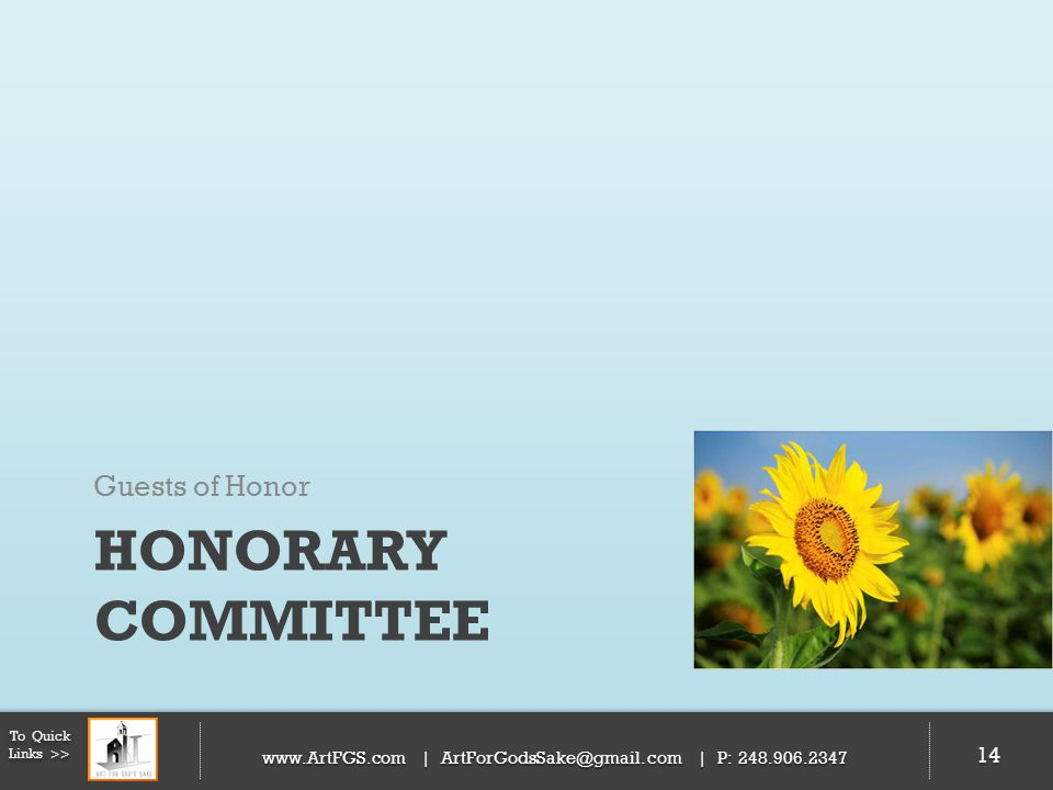 Honorary Committee Guests of Honor 14