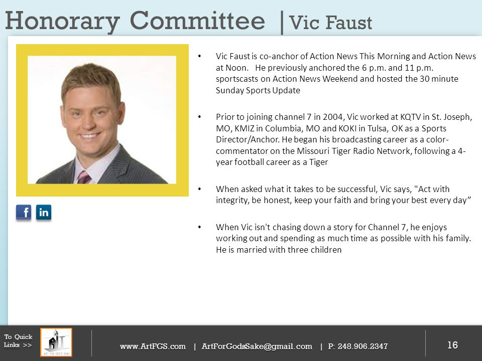 Honorary Committee |Vic Faust
