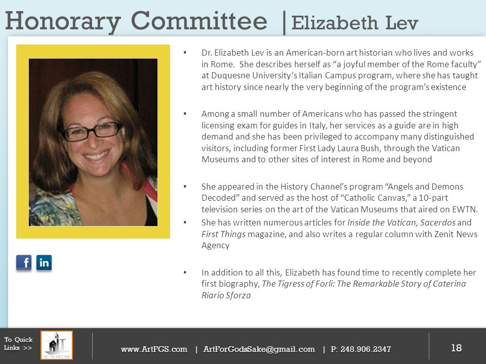 Honorary Committee |Elizabeth Lev