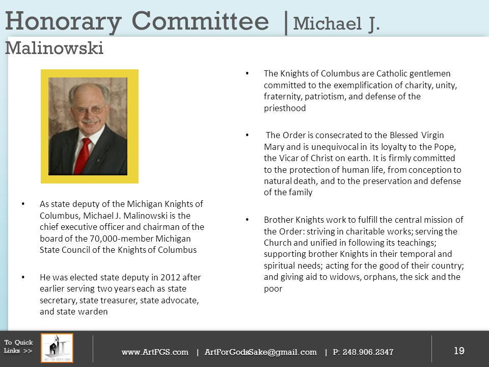 Honorary Committee |Michael J. Malinowski