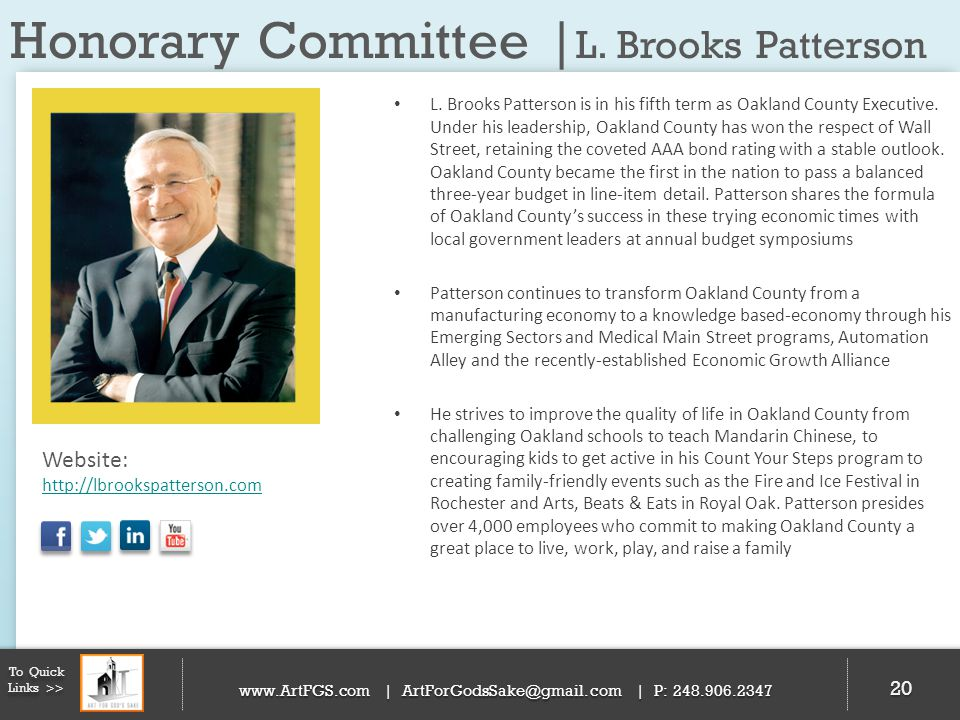Honorary Committee |L. Brooks Patterson