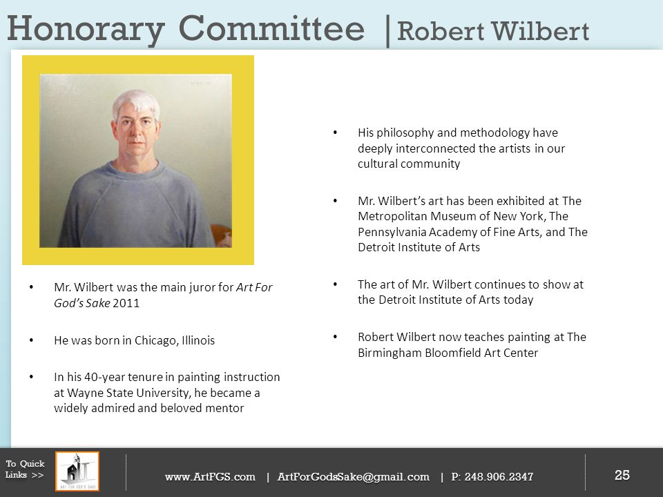 Honorary Committee |Robert Wilbert