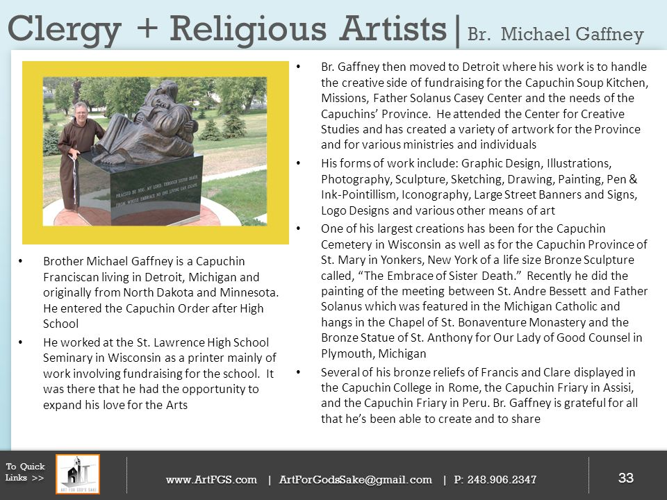 Clergy + Religious Artists|Br. Michael Gaffney