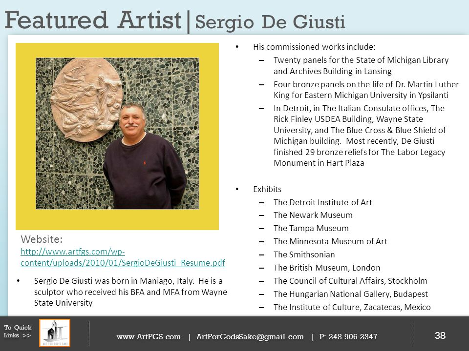 Featured Artist|Sergio De Giusti