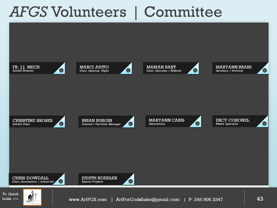 AFGS Volunteers | Committee