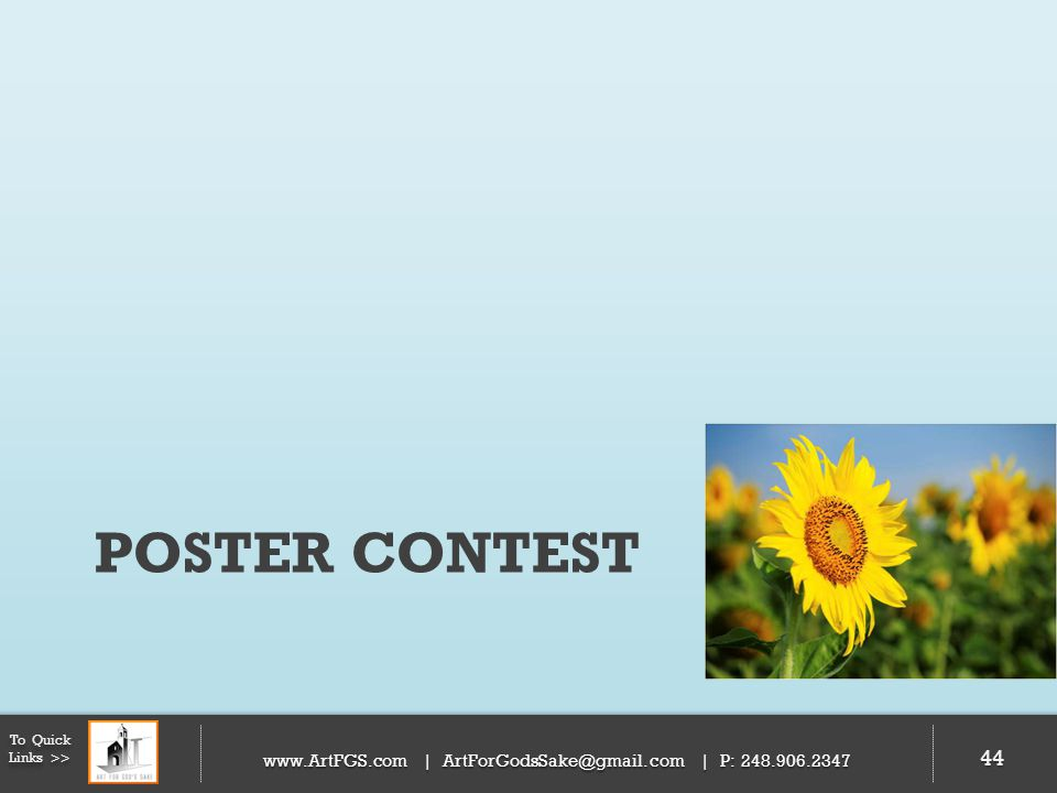 Poster Contest To Quick Links >> 44   | | P: