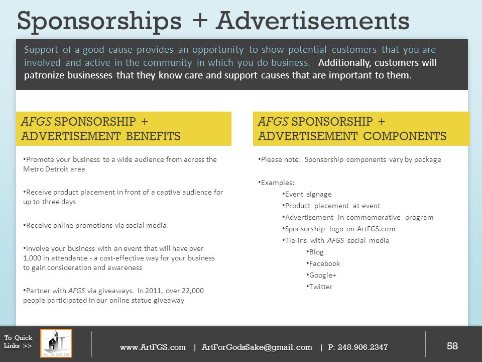 Sponsorships + Advertisements