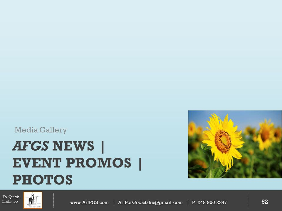 AFGS News | Event Promos | Photos