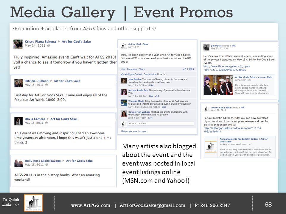 Media Gallery | Event Promos