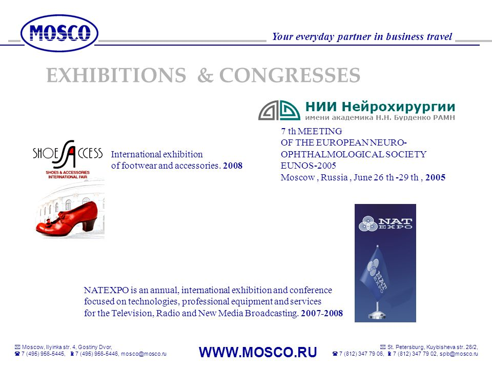 EXHIBITIONS & CONGRESSES