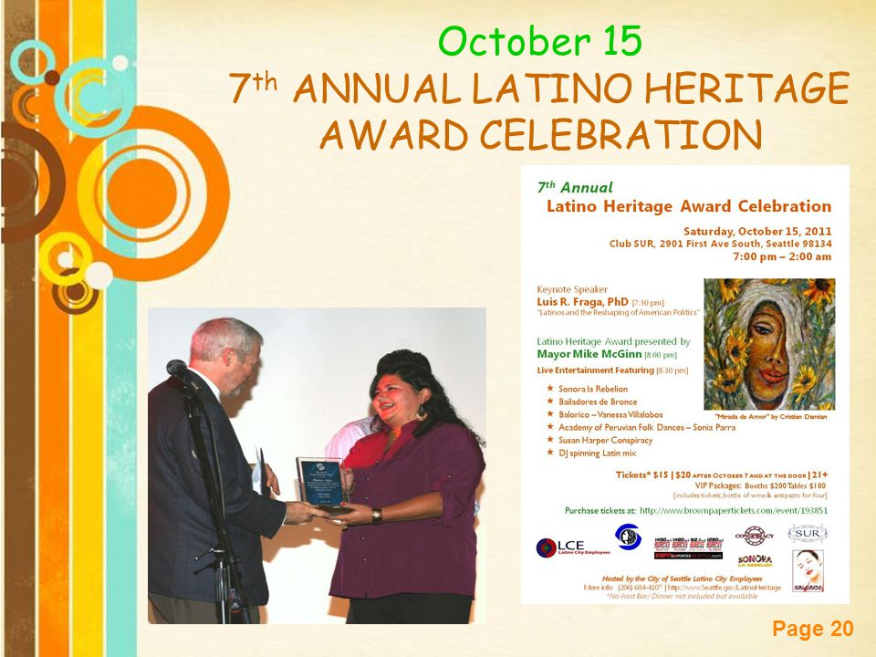 7th ANNUAL LATINO HERITAGE AWARD CELEBRATION