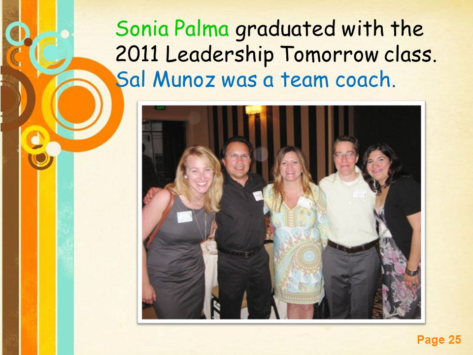 Sonia Palma graduated with the 2011 Leadership Tomorrow class