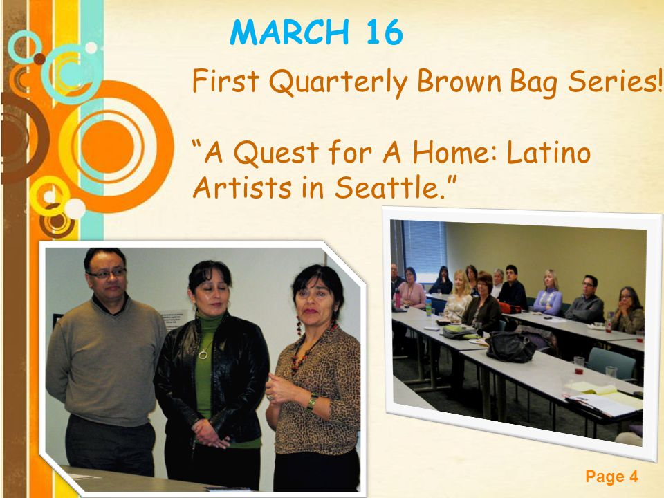 MARCH 16 First Quarterly Brown Bag Series!