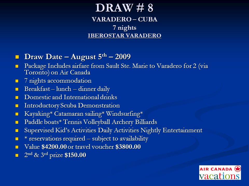 DRAW # 8 VARADERO – CUBA 7 nights IBEROSTAR VARADERO