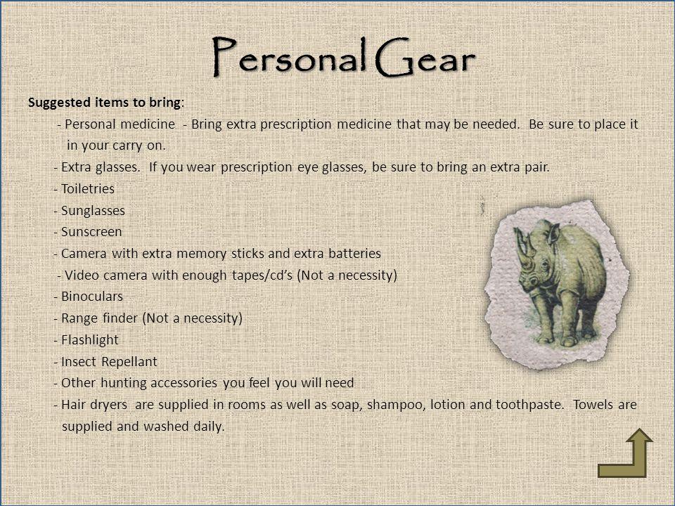 Personal Gear