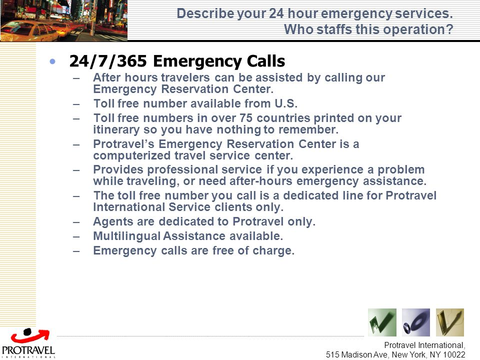 Describe your 24 hour emergency services. Who staffs this operation