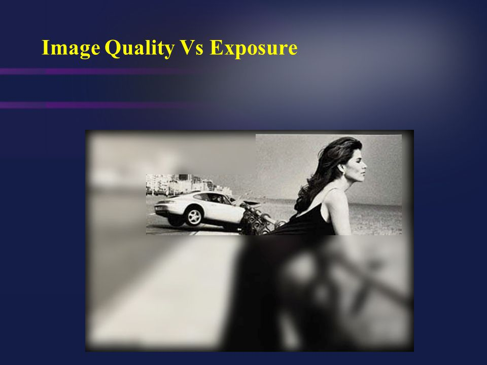 Image Quality Vs Exposure