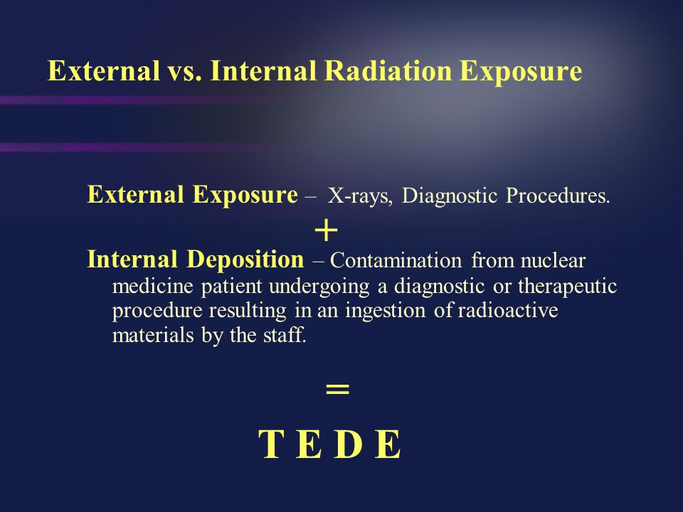 External vs. Internal Radiation Exposure